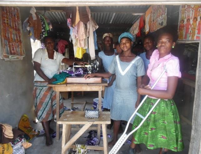 Aneba Awuntumyegi as a dressmaker apprentice