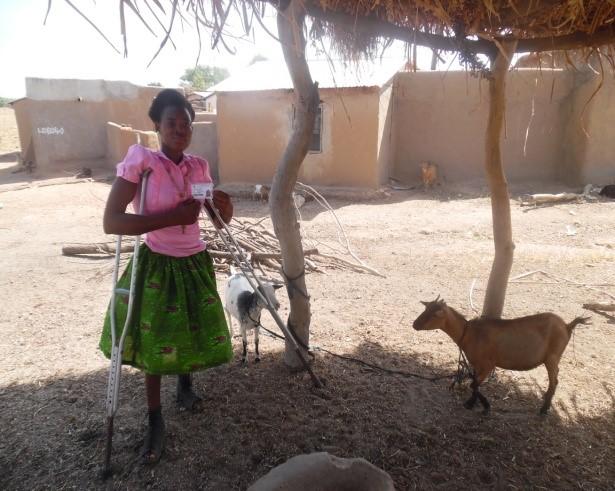 Aneba Awuntumyegi in her goat pen